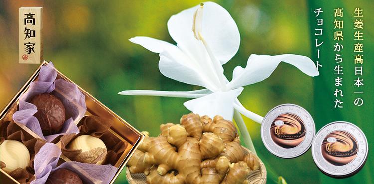 生姜生産高日本一の高知県から生まれたチョコレート